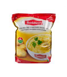 Piure de cartofi instant Roddson, în ambalaj de 1kg este alternativa rapidă la piureul de cartofi tradițional. Gustul excelent, ingredientele de calitate fac din piureul de cartofi instant Roddson o opțiune delicioasă când vrei să economisești timp.