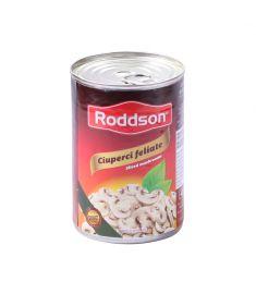 Ciuperci feliate Roddson în cutie de 400 grame, conțin ciuperci de cea mai bună calitate originare din Polonia. Produs sterilizat, calitate premium.