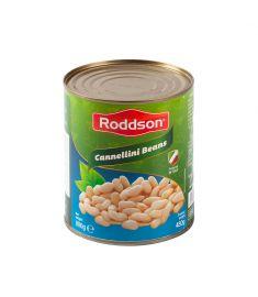 Fasole Cannellini Roddson în conservă de 800 grame, este produsă din fasole albă boabe, de cea mai bună calitate din Italia.