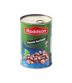 Fasole Borlotti Roddson în conservă de 400 grame, este produsă din fasole albă boabe, de cea mai bună calitate din Italia.