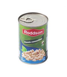 Fasole Cannellini Roddson în conservă de 400 grame, este produsă din fasole albă boabe, de cea mai bună calitate din Italia.