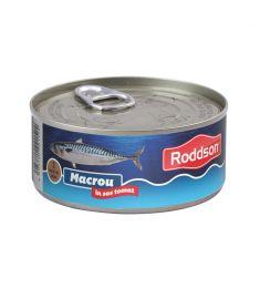 Macrou în sos tomat Roddson în cutie de 300 grame, este un produs din gama premium, delicios și sănătos, produs în Bulgaria. Produs sterilizat.