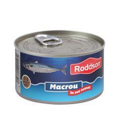 Macrou în sos tomat Roddson în cutie de 400 grame, este un produs din gama premium, delicios și sănătos, produs în Bulgaria. Produs sterilizat.