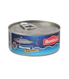 Macrou în ulei vegetal Roddson în cutie de 300 grame, este un produs din gama premium, delicios și sănătos, produs în Bulgaria. Produs sterilizat.