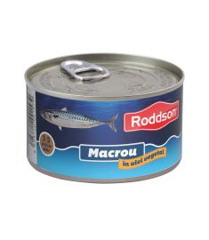 Macrou în ulei vegetal Roddson în cutie de 400 grame, este un produs din gama premium, delicios și sănătos, produs în Bulgaria. Produs sterilizat.