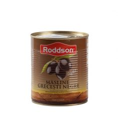 Măslinele negre, calibru 101-110, marca Roddson, în cutii de 400 grame sunt originare din Grecia și înglobează toată priceperea, rafinamentul și tradiția milenară a grecilor în cultivarea măslinului.