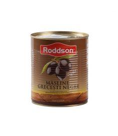 Măslinele negre, calibru 141-160, marca Roddson, în cutii de 400 grame sunt originare din Grecia și înglobează toată priceperea, rafinamentul și tradiția milenară a grecilor în cultivarea măslinului.