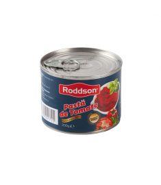 Pastă tomate 28% Roddson în cutie de 200 grame, este produs în România din roșii de cea mai bună calitate, pasta având o concentrație de roșii de 28%. Produs sterilizat. Calitate premium.