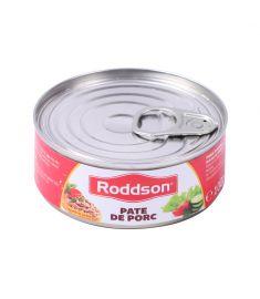 Pate porc Roddson în cutie de 100 grame, este fabricat în România. Produs sterilizat