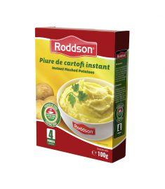 Piure de cartofi instant Roddson, în cutie de 100 grame este alternativa rapidă la piureul de cartofi tradițional. Gustul excelent, ingredientele de calitate fac din piureul de cartofi instant Roddson o opțiune delicioasă când vrei să economisești timp.