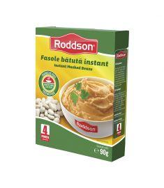 Fasole bătută instant Roddson, în cutie de 90 grame este alternativa rapidă la mâncarea de fasole bătută tradițională. Gustul excelent, ingredientele de calitate fac din fasolea bătută instant Roddson o opțiune delicioasă când vrei să economisești timp.