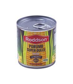 Porumb super dulce crocant boabe Roddson, în conservă de 212ml, conține boabe de porumb dulce din Ungaria, atent selecționate, calitate premium. Fără zahăr adăugat!