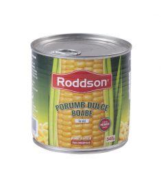 Porumb dulce boabe Roddson, în conservă de 425ml, conține boabe de porumb dulce din Ungaria, atent selecționate, calitate premium.
