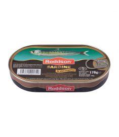 Sardine în ulei vegetal Roddson în cutie de 170 grame, este un produs din gama premium, delicios și sănătos, produs în Bulgaria. Produs sterilizat.