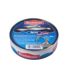 Șprot în sos tomat Roddson în cutie de 160 grame, este un produs din gama premium, delicios și sănătos, produs în Bulgaria. Produs sterilizat.